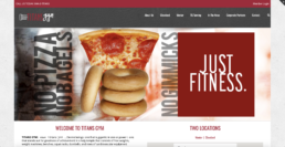 Titans Gym Old Landing Page