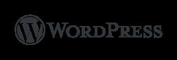 Black WordPress Logo