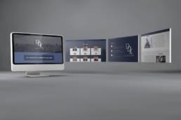 DDK Patent Website mockup on gray background