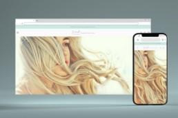 Fresh Flip Hair Design on Browser Window Phone